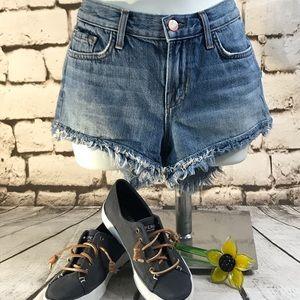 J. Brand Sz 24 Satchi Short Blue Jean Cut Offs